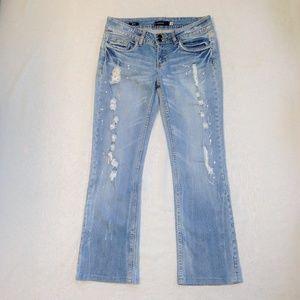 Vigoss Distressed Bootcut Denim Blue Jean 28